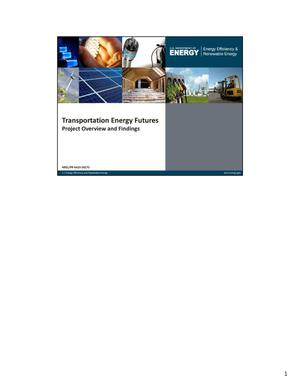 Primary view of object titled 'Transportation Energy Futures: Project Overview and Findings (Presentation)'.