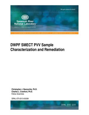 Primary view of object titled 'DWPF SMECT PVV SAMPLE CHARACTERIZATION AND REMEDIATION'.
