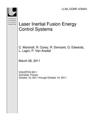 Primary view of object titled 'Laser Inertial Fusion Energy Control Systems'.