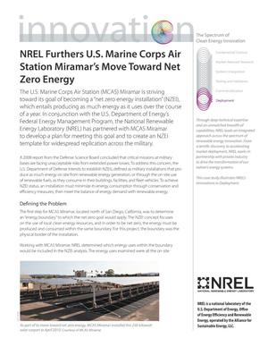 Primary view of object titled 'NREL Furthers U.S. Marine Corps Air Station Miramar's Move Toward Net Zero Energy (Fact Sheet)'.
