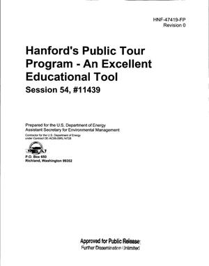 Primary view of object titled 'HANFORDS PUBLIC TOUR PROGRAM - AN EXCELLENT EDUCATIONAL TOOL'.