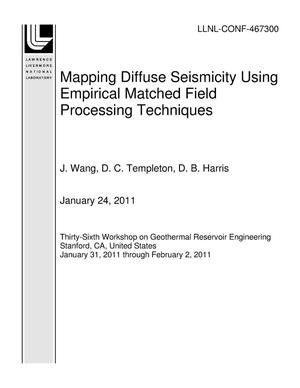 Primary view of object titled 'Mapping Diffuse Seismicity Using Empirical Matched Field Processing Techniques'.