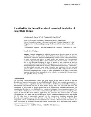 Primary view of object titled 'A method for the three-dimensional simulation of superfluid helium'.