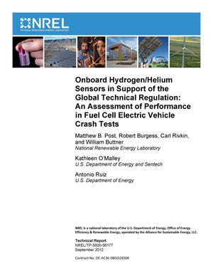 Primary view of object titled 'Onboard Hydrogen/Helium Sensors in Support of the Global Technical Regulation: An Assessment of Performance in Fuel Cell Electric Vehicle Crash Tests'.