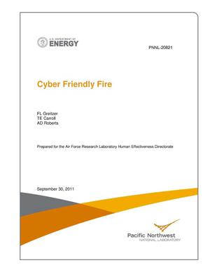 Primary view of object titled 'Cyber Friendly Fire'.