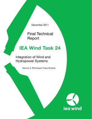 Primary view of object titled 'IEA Wind Task 24 Integration of Wind and Hydropower Systems; Volume 2: Participant Case Studies'.