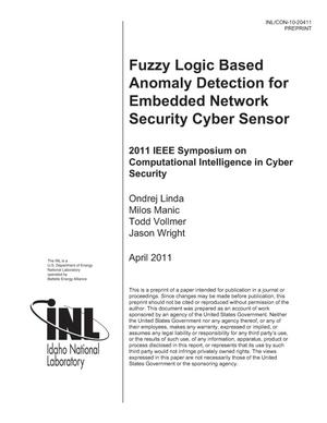 Primary view of object titled 'Fuzzy Logic Based Anomaly Detection for Embedded Network Security Cyber Sensor'.