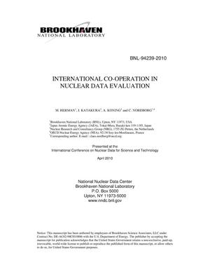 Primary view of object titled 'INTERNATIONAL CO-OPERATION IN NUCLEAR DATA EVALUATION'.