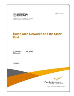 Primary view of object titled 'Home Area Networks and the Smart Grid'.