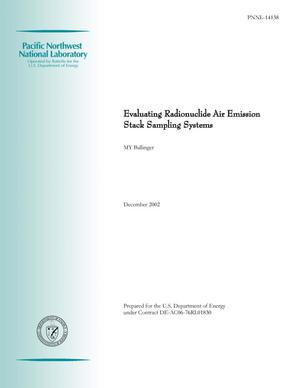 Primary view of object titled 'Evaluating Radionuclide Air Emission Stack Sampling Systems'.