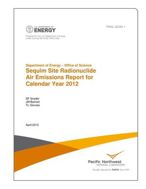 Primary view of Sequim Site Radionuclide Air Emissions Report for Calendar Year 2012