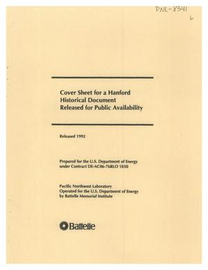 Primary view of object titled 'SAFETY ANALYSIS REPORT- BIOLOGY LABORATORIES PLUTONIUM - 238 EXPERIMENTS'.