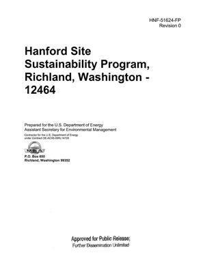 Primary view of object titled 'HANFORD SITE SUSTAINABILITY PROGRAM RICHLAND WASHINGTON - 12464'.