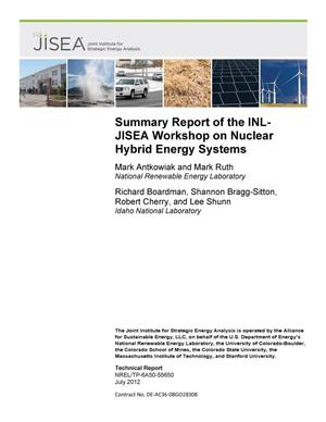 Primary view of object titled 'Summary Report of the INL-JISEA Workshop on Nuclear Hybrid Energy Systems'.