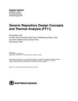 Primary view of object titled 'Generic repository design concepts and thermal analysis (FY11).'.