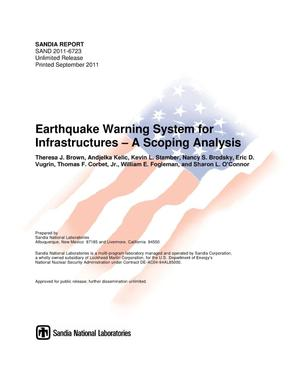 Primary view of object titled 'Earthquake warning system for infrastructures : a scoping analysis.'.