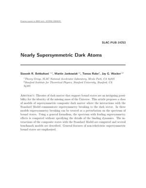 Primary view of object titled 'Nearly Supersymmetric Dark Atoms'.