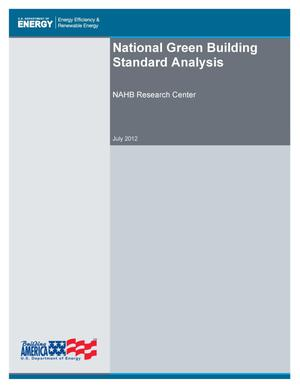 Primary view of object titled 'National Green Building Standard Analysis'.