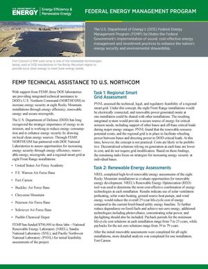 Primary view of object titled 'FEMP Technical Assistance to U.S. NORTHCOM (Fact Sheet)'.