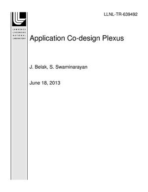 Primary view of object titled 'Application Co-design Plexus'.