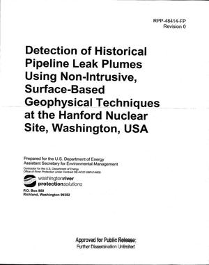 Primary view of object titled 'DETECTION OF HISTORICAL PIPELINE LEAK PLUMES USING NON-INTRUSIVE SURFACE-BASED GEOPHYSICAL TECHNIQUES AT THE HANFORD NUCLEAR SITE WASHINGTON USA'.
