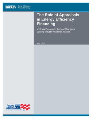 Primary view of object titled 'Role of Appraisals in Energy Efficiency Financing'.