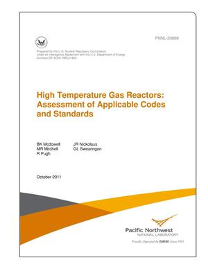 Primary view of object titled 'High Temperature Gas Reactors: Assessment of Applicable Codes and Standards'.