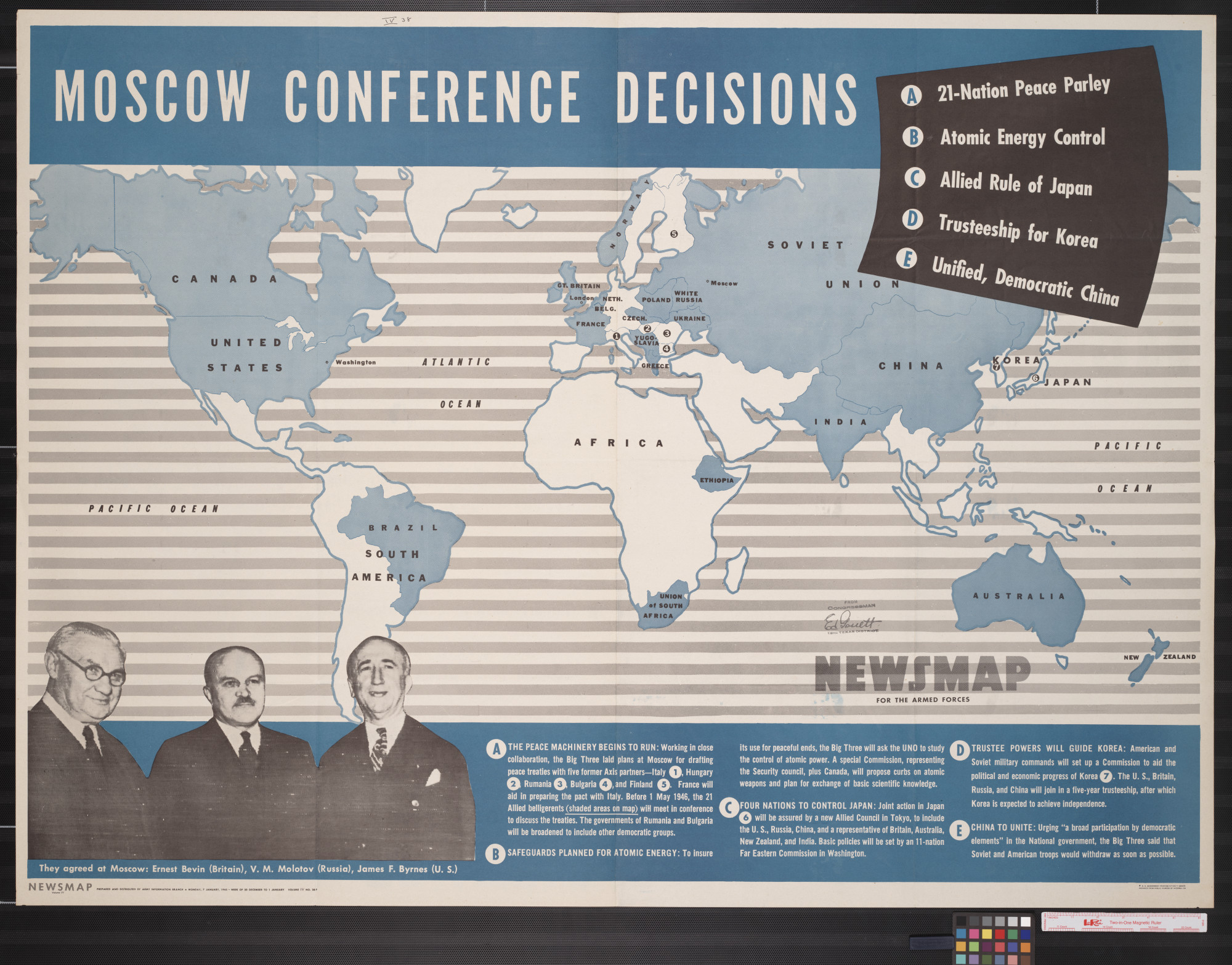 Newsmap for the Armed Forces : Moscow conference decisions                                                                                                      [Sequence #]: 1 of 2