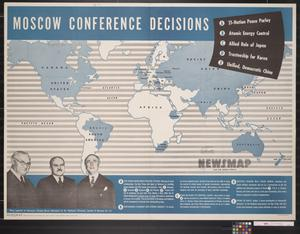 Primary view of object titled 'Newsmap for the Armed Forces : Moscow conference decisions'.