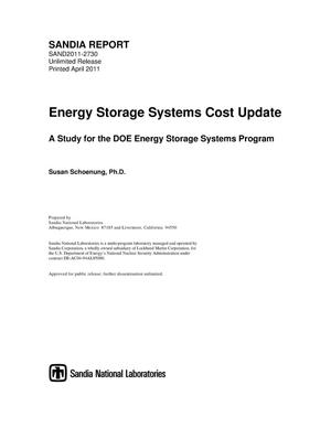 Primary view of object titled 'Energy storage systems cost update : a study for the DOE Energy Storage Systems Program.'.