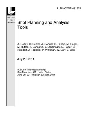 Primary view of object titled 'Shot Planning and Analysis Tools'.