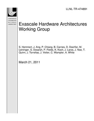 Primary view of object titled 'Exascale Hardware Architectures Working Group'.