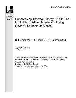 Primary view of object titled 'Suppressing Thermal Energy Drift In The LLNL Flash X-Ray Accelerator Using Linear Disk Resistor Stacks'.