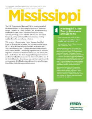 Primary view of object titled 'Mississippi: Mississippi's Clean Energy Resources and Economy (Brochure)'.