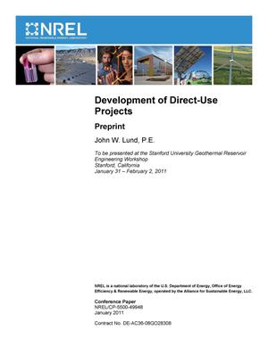 Primary view of object titled 'Development of Direct-Use Projects: Preprint'.