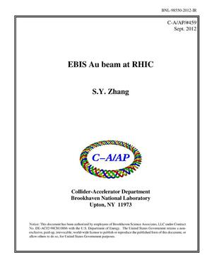 Primary view of object titled 'EBIS Au Beam at RHIC'.