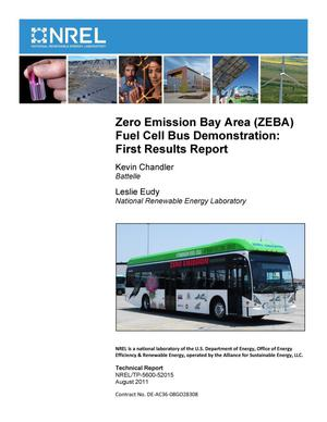 Primary view of object titled 'Zero Emission Bay Area (ZEBA) Fuel Cell Bus Demonstration: First Results Report'.