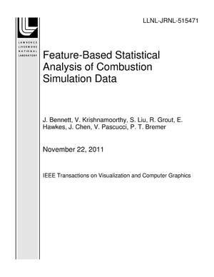 Primary view of object titled 'Feature-Based Statistical Analysis of Combustion Simulation Data'.