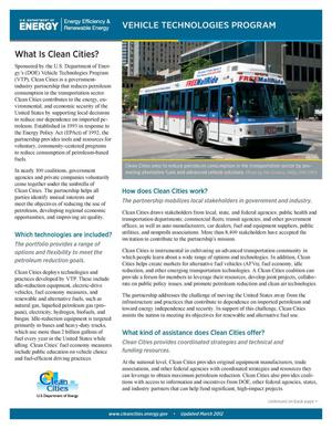 Primary view of object titled 'Clean Cities Fact Sheet, October 2011'.