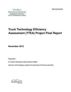 Primary view of object titled 'Truck Technology Efficiency Assessment (TTEA) Project Final Report'.