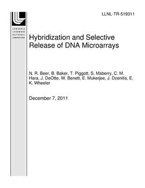 Primary view of object titled 'Hybridization and Selective Release of DNA Microarrays'.