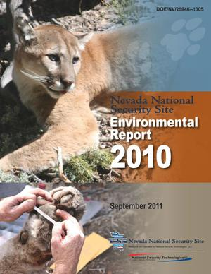 Primary view of object titled 'Nevada National Security Site Environmental Report 2010'.