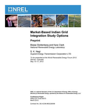 Primary view of object titled 'Market-Based Indian Grid Integration Study Options: Preprint'.