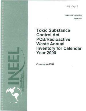 Primary view of object titled 'Toxic Substance Control Act PCB/Radioactive Waste'.