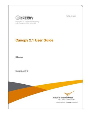 Primary view of object titled 'Canopy 2.1 User Guide'.
