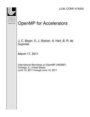 Primary view of object titled 'OpenMP for Accelerators'.