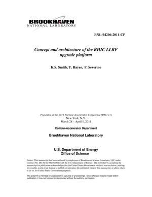 Primary view of object titled 'Concept and architecture of the RHIC LLRF upgrade platform'.