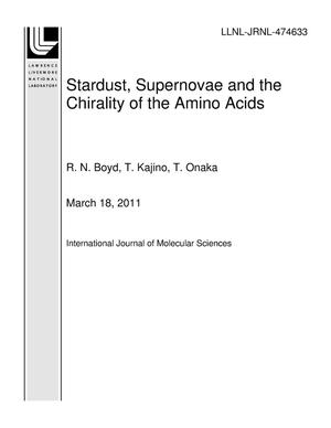 Primary view of object titled 'Stardust, Supernovae and the Chirality of the Amino Acids'.