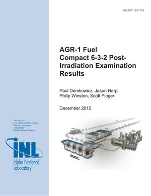 Primary view of object titled 'AGR-1 Fuel Compact 6-3-2 Post-Irradiation Examination Results'.