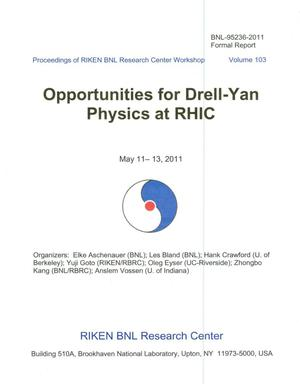 Primary view of object titled 'Opportunities for Drell-Yan Physics at RHIC'.